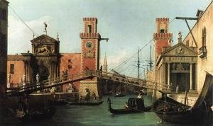 (Giovanni Antonio Canal) Canaletto - Entrance to the Arsenal