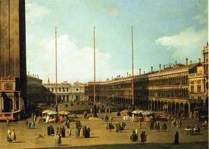 (Giovanni Antonio Canal) Canaletto - Piazza San Marco, Looking Towards San Geminiano
