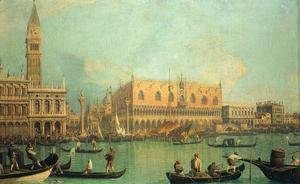 (Giovanni Antonio Canal) Canaletto - The Doge's Palace with the Piazza di San Marco