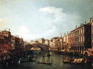 (Giovanni Antonio Canal) Canaletto - Rialto Bridge from the South