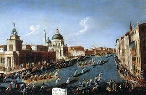 (Giovanni Antonio Canal) Canaletto - The Women's Regatta on the Grand Canal