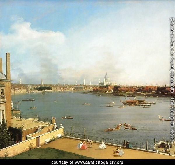 The Thames and the City of London from Richmond House