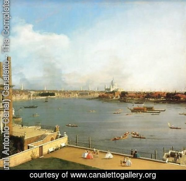 (Giovanni Antonio Canal) Canaletto - The Thames and the City of London from Richmond House