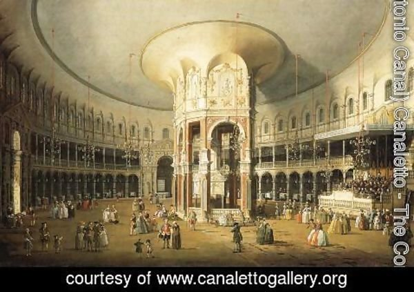(Giovanni Antonio Canal) Canaletto - The Rotunda of Ranelagh House
