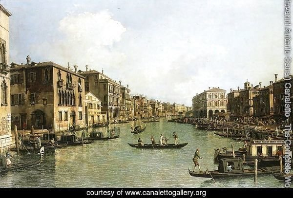 Grand Canal From the Campo Santa Sofia Towards the Rialto Bridge