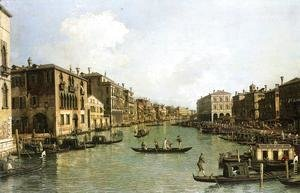 (Giovanni Antonio Canal) Canaletto - Grand Canal From the Campo Santa Sofia Towards the Rialto Bridge