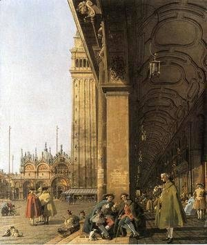 (Giovanni Antonio Canal) Canaletto - Piazza San Marco, Looking East from the Southwest Corner