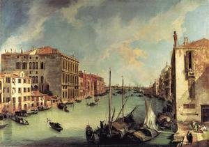 (Giovanni Antonio Canal) Canaletto - Grand Canal: Looking East from the Campo S. Vio
