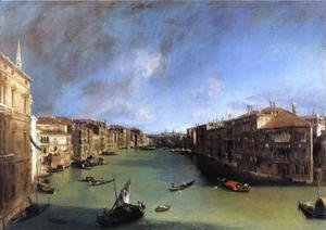 (Giovanni Antonio Canal) Canaletto - Grand Canal: Looking Northeast from the Palazzo Balbi to the Rialto Bridge