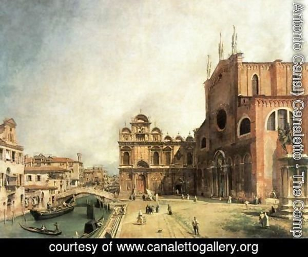 (Giovanni Antonio Canal) Canaletto - SS. Giovanni e Paulo and the Scuola de San Marco
