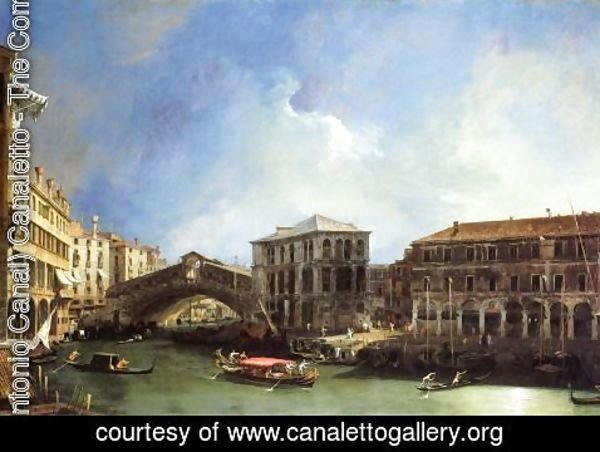 (Giovanni Antonio Canal) Canaletto - Grand Canel: the Rialto Bridge from the North