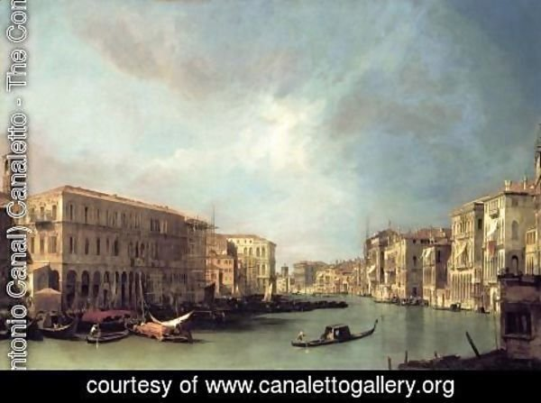 (Giovanni Antonio Canal) Canaletto - Grand Canal: Looking North from near the Rialto Bridge
