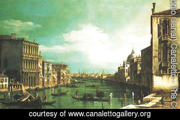 (Giovanni Antonio Canal) Canaletto - Grand Canal, Venice, Looking East from the Campo di San Vio