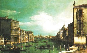 Grand Canal, Venice, Looking East from the Campo di San Vio