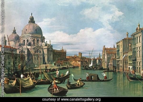 The Grand Canal at the Salute Church 2