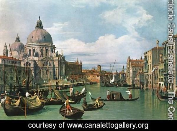 (Giovanni Antonio Canal) Canaletto - The Grand Canal at the Salute Church 2