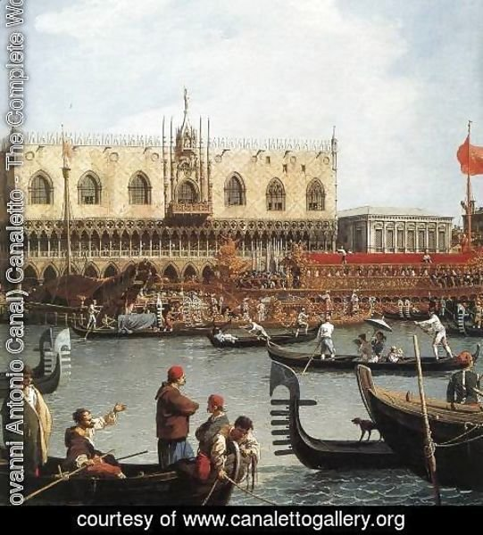 (Giovanni Antonio Canal) Canaletto - Return of the Bucentoro to the Molo on Ascension Day (detail) 2