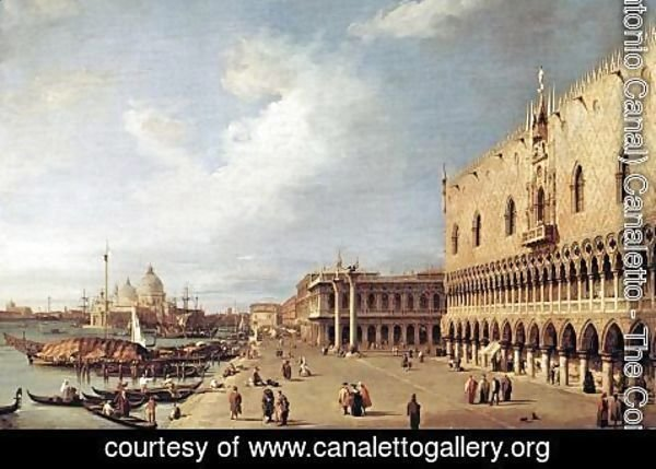 (Giovanni Antonio Canal) Canaletto - View of the Ducal Palace