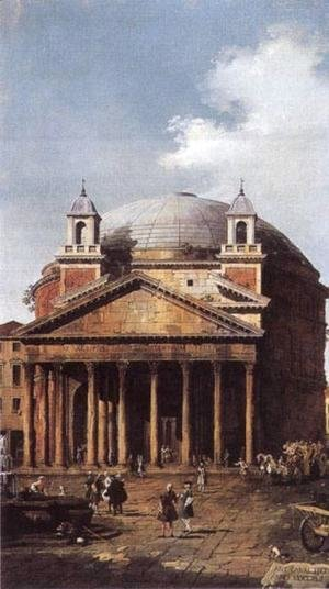 (Giovanni Antonio Canal) Canaletto - The Pantheon
