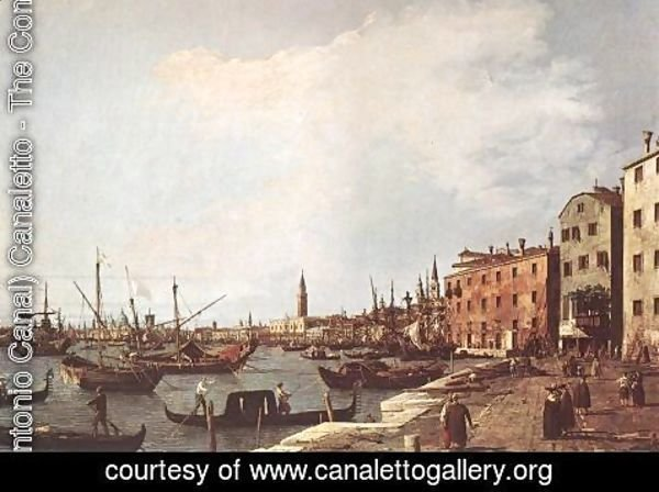 (Giovanni Antonio Canal) Canaletto - Riva degli Schiavoni from the West Side