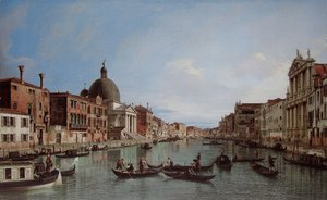 (Giovanni Antonio Canal) Canaletto - Venice, the Upper Reaches of the Grand Canal with S. Simeone Piccolo