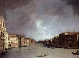 (Giovanni Antonio Canal) Canaletto - Grand Canal, Looking from Palazzo Balbi