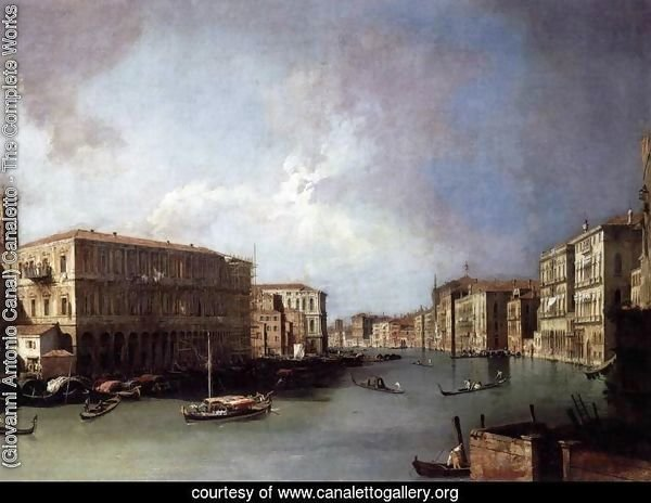 Grand Canal, Looking North from Near the Rialto Bridge
