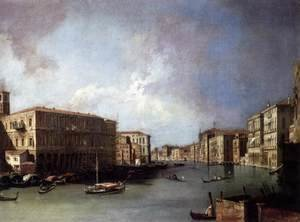 (Giovanni Antonio Canal) Canaletto - Grand Canal, Looking North from Near the Rialto Bridge