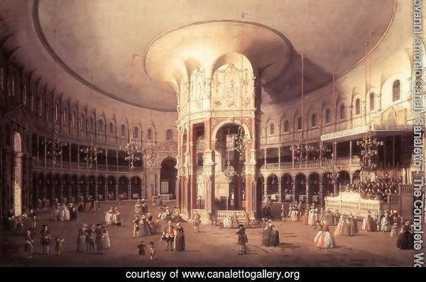 London, Ranelagh, Interior of the Rotunda