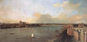 (Giovanni Antonio Canal) Canaletto - London, Seen from an Arch of Westminster Bridge