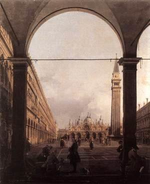 (Giovanni Antonio Canal) Canaletto - Piazza San Marco, Looking East from the North-West Corner
