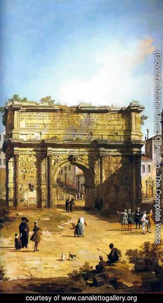 (Giovanni Antonio Canal) Canaletto - Rome, The Arch of Septimius Severus