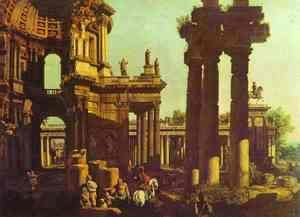 (Giovanni Antonio Canal) Canaletto - Ruins of a Temple