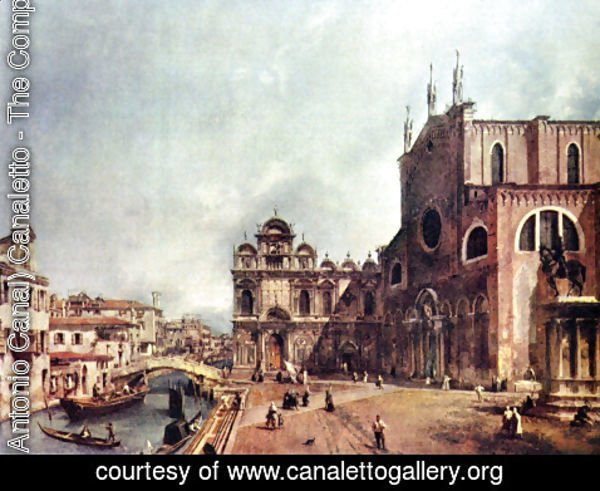 (Giovanni Antonio Canal) Canaletto - The Church of Saints John and Paul
