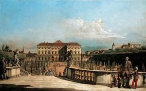 (Giovanni Antonio Canal) Canaletto - The Liechtenstein Garden Palace, garden