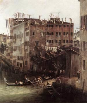 (Giovanni Antonio Canal) Canaletto - The Rio dei Mendicanti (detail)