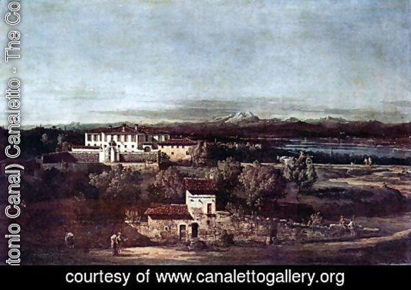 (Giovanni Antonio Canal) Canaletto - The village Gazzada viewed from southeast to the Villa Melzi d'Eril
