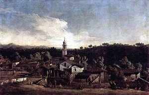 (Giovanni Antonio Canal) Canaletto - The village Gazzada, View from the south (Vedute of Gazzada)