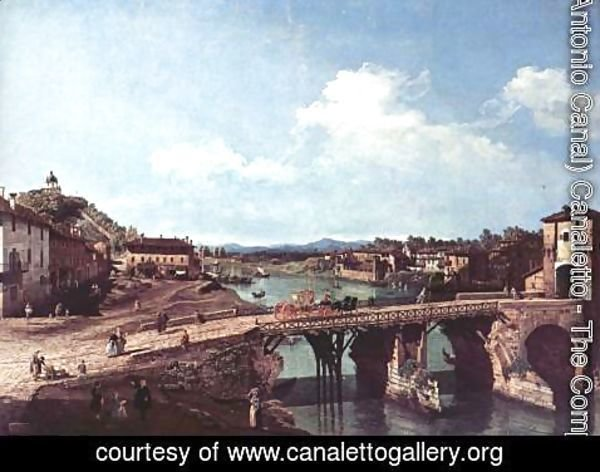 (Giovanni Antonio Canal) Canaletto - Turin viewed from the north-east to the ancient bridge over the Po