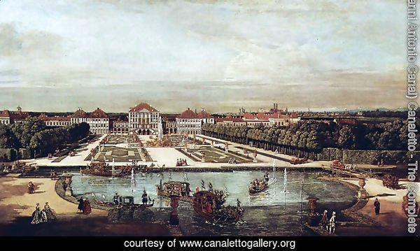View from Munich, Nymphenburg Castle, view of west