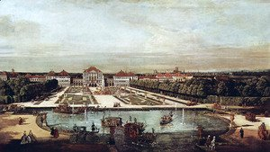 (Giovanni Antonio Canal) Canaletto - View from Munich, Nymphenburg Castle, view of west