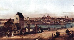 (Giovanni Antonio Canal) Canaletto - View from Munich, The Bridge and the Isar