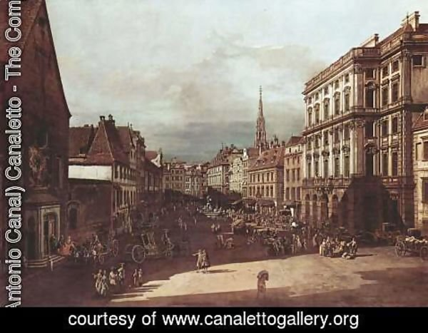 (Giovanni Antonio Canal) Canaletto - View from Vienna, flour market, Northeast seen