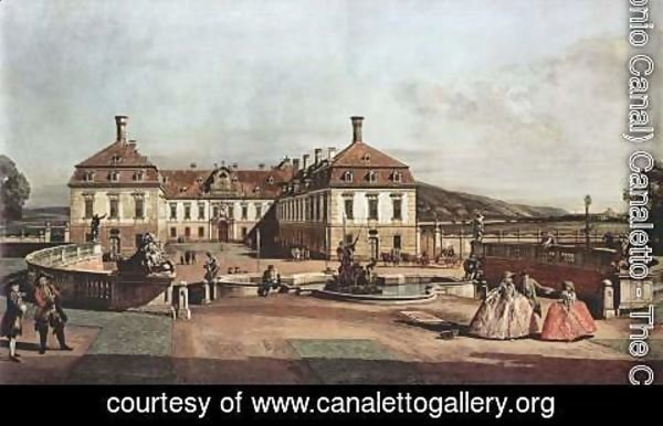 (Giovanni Antonio Canal) Canaletto - View from Vienna, lust imperial palace, view of the Castle