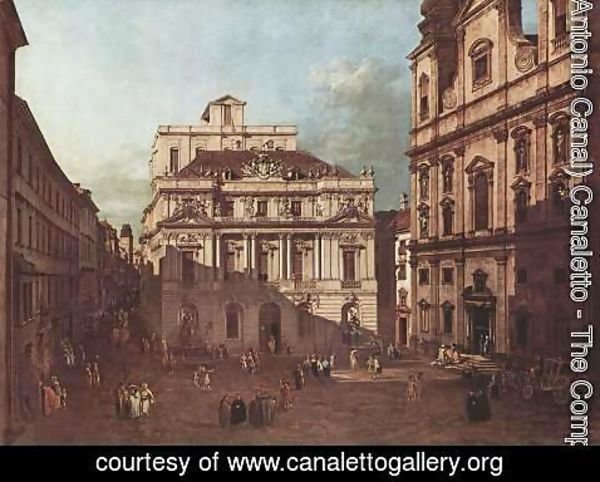 (Giovanni Antonio Canal) Canaletto - View from Vienna, the square in front of the University of South-East of view, with the large auditorium of the Univ