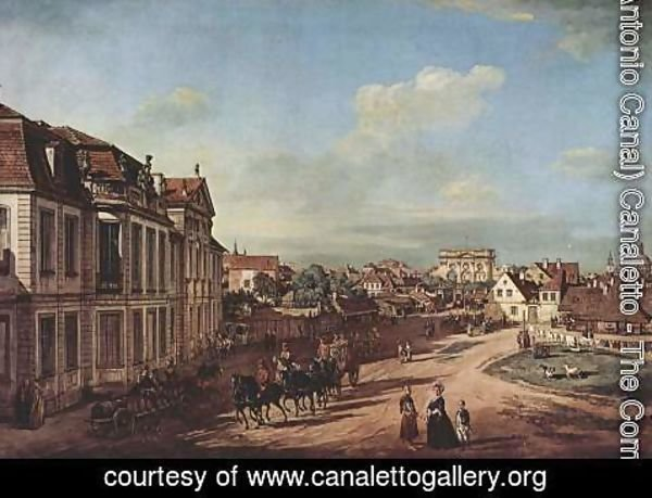 (Giovanni Antonio Canal) Canaletto - View from Warsaw Castle, Tor-Platz, seen from the west