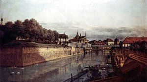(Giovanni Antonio Canal) Canaletto - View of Dresden, the ancient moat of the kennel, the Orangerie