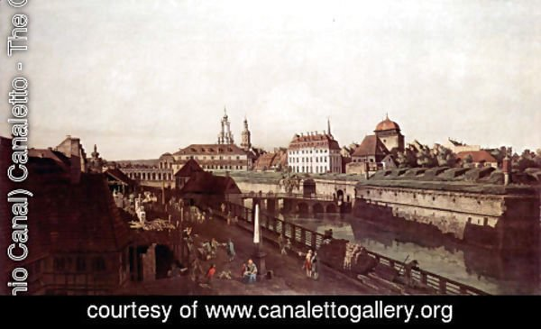 (Giovanni Antonio Canal) Canaletto - View of Dresden, the fortress plants in Dresden, fortified with trenches