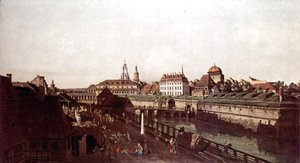 View of Dresden, the fortress plants in Dresden, fortified with trenches