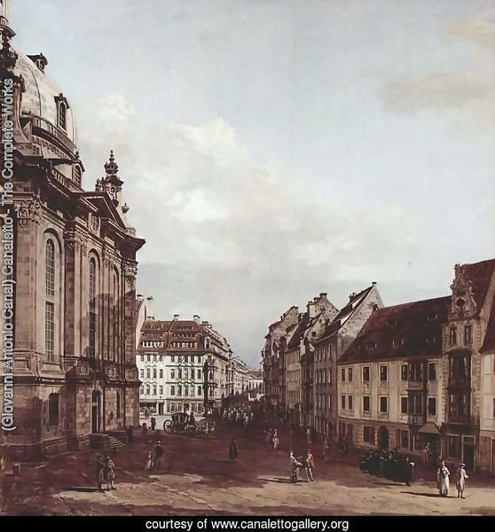 View of Dresden, the Frauenkirche
